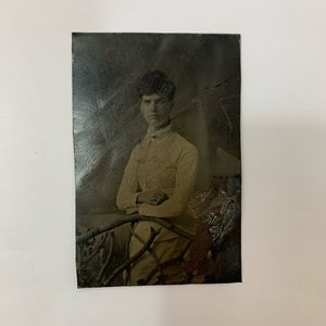 Other - Antique Victorian Tintype Young Woman Photograph